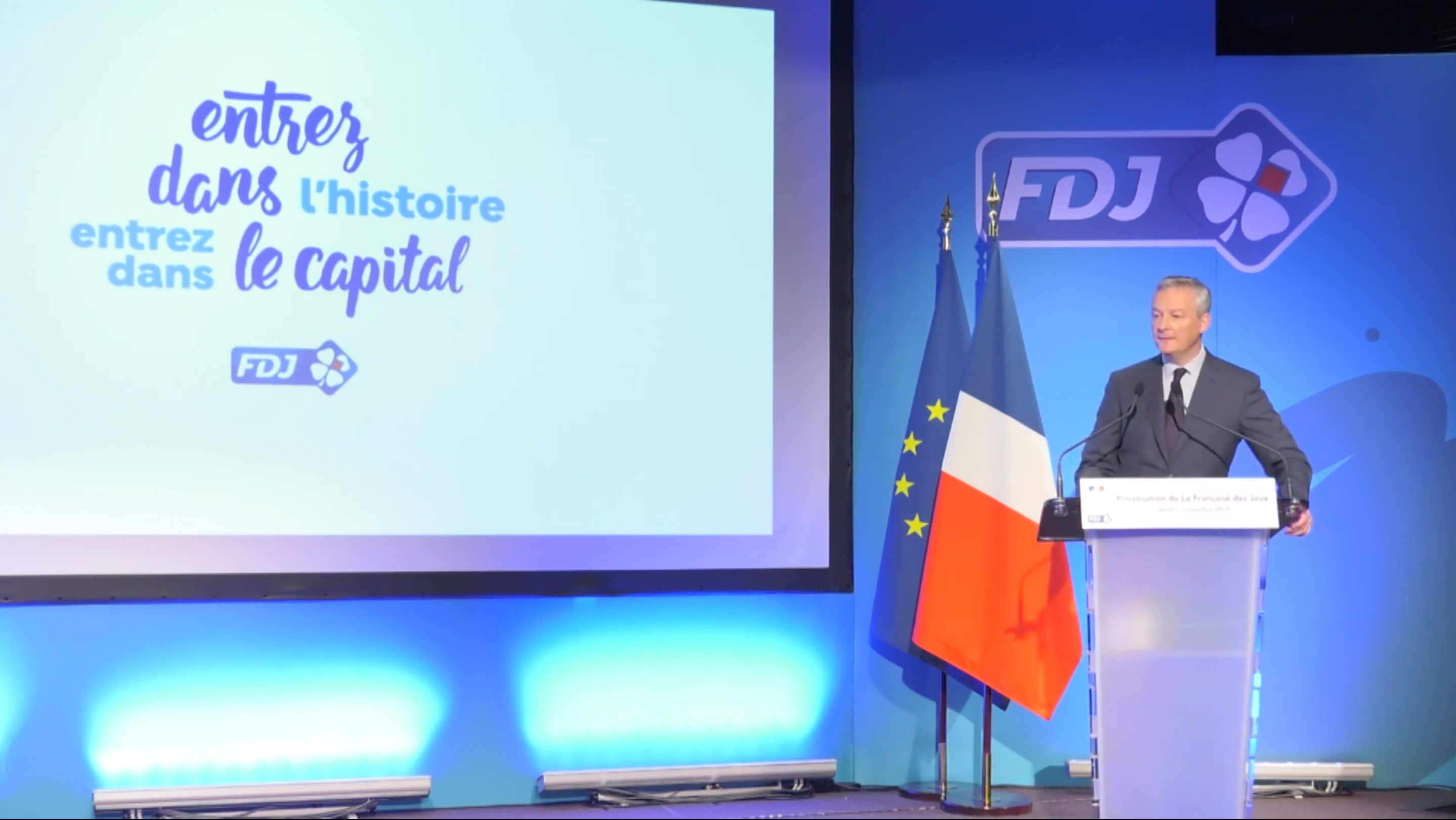 streaming live de la conférence de presse de l'introduction en bourde de la FDJ